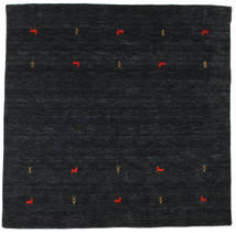 Gabbeh Loom Two Lines - Nero/Grigio Tappeto 200X200 Moderno Quadrato Nero (Lana, India)