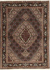 Tabriz 40 Raj Tappeto 107X149 Orientale Fatto A Mano Rosso Scuro/Marrone Scuro (Lana/Seta, Persia/Iran)