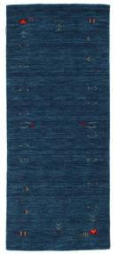 Gabbeh Loom Frame - Blu Scuro Tappeto 80X200 Moderno Alfombra Pasillo Blu Scuro (Lana, India)