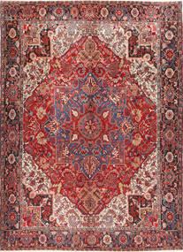 Heriz Tappeto 298X414 Orientale Fatto A Mano Rosso Scuro/Marrone Grandi (Lana, Persia/Iran)