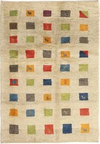 Gabbeh Persia Tappeto 125X184 Moderno Fatto A Mano Beige/Beige Scuro (Lana, Persia/Iran)