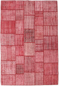 Patchwork Tappeto 205X305 Moderno Fatto A Mano Rosa/Ruggine/Rosso (Lana, Turchia)