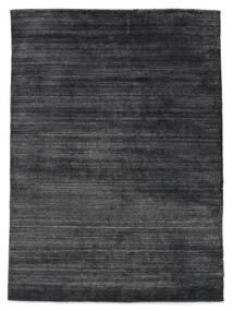 Bambù Di Seta Loom - Charcoal Tappeto 140X200 Moderno Grigio Scuro/Nero ( India)