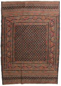 Kilim Golbarjasta Tappeto 132X188 Orientale Tessuto A Mano Marrone Scuro/Marrone (Lana, Afghanistan)