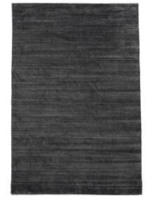Bambù Di Seta Loom - Charcoal Tappeto 250X350 Moderno Nero/Porpora/Grigio Scuro Grandi ( India)