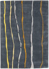 Flaws Handtufted - Grigio Tappeto 140X200 Moderno Grigio Scuro/Blu Scuro (Lana, India)