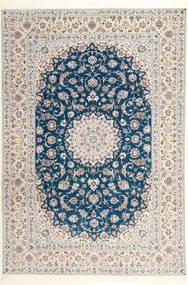 Nain 6La Habibian Tappeto 204X304 Orientale Fatto A Mano Grigio Chiaro/Bianco/Creme (Lana/Seta, Persia/Iran)