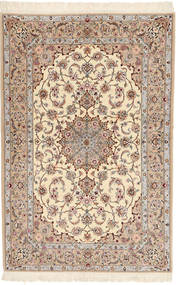 Isfahan Ordito In Seta Davudi Tappeto 130X202 Orientale Fatto A Mano Beige/Grigio Chiaro (Lana/Seta, Persia/Iran)