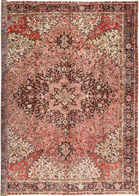 Heriz Tappeto 345X445 Orientale Fatto A Mano Marrone Chiaro/Marrone Scuro Grandi (Lana, Persia/Iran)