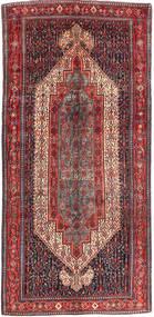 Senneh Tappeto 163X343 Orientale Fatto A Mano Alfombra Pasillo Rosso Scuro/Marrone Scuro (Lana, Persia/Iran)