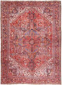 Heriz Tappeto 347X445 Orientale Fatto A Mano Rosa Chiaro/Marrone Grandi (Lana, Persia/Iran)