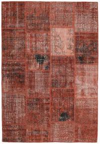 Patchwork Tappeto 159X232 Moderno Fatto A Mano Rosso Scuro/Marrone Chiaro (Lana, Turchia)