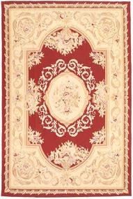 Aubouson Tappeto 184X281 Orientale Fatto A Mano Beige Scuro/Beige/Rosso Scuro (Lana, Cina)