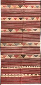 Kilim Fars Tappeto 140X320 Orientale Tessuto A Mano Alfombra Pasillo Rosso Scuro/Ruggine/Rosso (Lana, Persia/Iran)