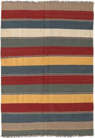 Kilim Tappeto 135X197 Orientale Tessuto A Mano Rosso Scuro/Blu (Lana, Persia/Iran)