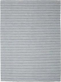 Kilim Long Stitch - Blu Tappeto 290X390 Moderno Tessuto A Mano Grigio Chiaro/Azzurro Grandi (Lana, India)