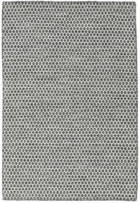 Kilim Honey Comb - Nero/Grigio Tappeto 120X180 Moderno Tessuto A Mano Grigio Chiaro/Grigio Scuro (Lana, India)