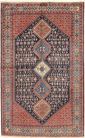 Yalameh Tappeto 157X255 Orientale Fatto A Mano Grigio Scuro/Rosso Scuro (Lana, Persia/Iran)