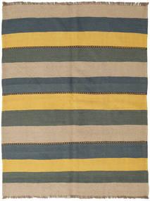 Kilim Tappeto 145X194 Orientale Tessuto A Mano Blu/Giallo (Lana, Persia/Iran)