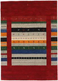 Loribaf Loom Designer - Dk.red/Multi Tappeto 140X200 Moderno Rosso Scuro/Rosso (Lana, India)