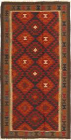 Kilim Maimane Tappeto 100X195 Orientale Tessuto A Mano Marrone Scuro/Ruggine/Rosso (Lana, Afghanistan)