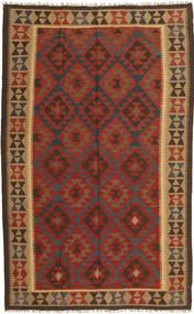 Kilim Maimane Tappeto 154X249 Orientale Tessuto A Mano Rosso Scuro/Marrone Scuro (Lana, Afghanistan)
