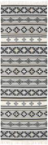Kilim Cizre Tappeto 80X350 Moderno Tessuto A Mano Alfombra Pasillo Grigio Chiaro/Grigio Scuro (Lana, India)