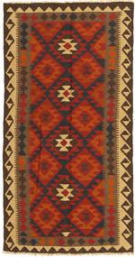 Kilim Maimane Tappeto 99X194 Orientale Tessuto A Mano Ruggine/Rosso/Marrone Scuro (Lana, Afghanistan)