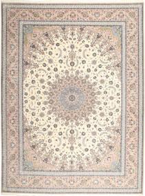 Isfahan Ordito In Seta Tappeto 315X420 Orientale Fatto A Mano Grigio Chiaro/Beige Grandi (Lana/Seta, Persia/Iran)