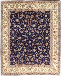 Tabriz 50 Raj Tappeto 255X305 Orientale Fatto A Mano Porpora Scuro/Beige Grandi (Lana/Seta, Persia/Iran)