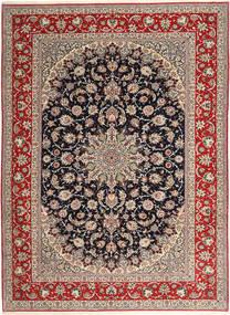 Isfahan Ordito In Seta Tappeto 265X363 Orientale Fatto A Mano Grigio Chiaro/Rosso Scuro Grandi (Lana/Seta, Persia/Iran)