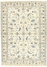 Nain 6La Tappeto 100X153 Orientale Fatto A Mano Beige/Grigio Chiaro (Lana/Seta, Persia/Iran)