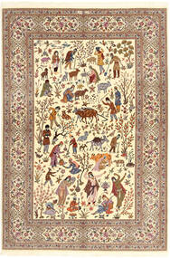 Ilam Sherkat Farsh Di Seta Tappeto 150X220 Orientale Fatto A Mano Beige/Marrone/Marrone Chiaro (Lana/Seta, Persia/Iran)