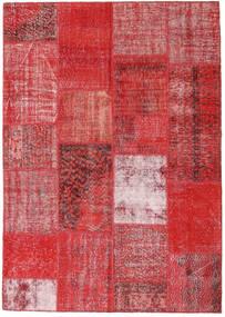 Patchwork Tappeto 162X230 Moderno Fatto A Mano Ruggine/Rosso/Rosso Scuro/Rosso (Lana, Turchia)