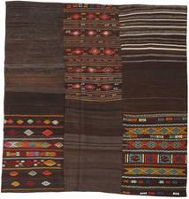 Kilim Patchwork Tappeto 208X212 Moderno Tessuto A Mano Quadrato Marrone Scuro (Lana, Turchia)