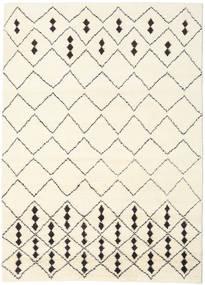 Berber Indo - Off-Bianco/Nero Tappeto 210X290 Moderno Fatto A Mano Beige/Bianco/Creme (Lana, India)