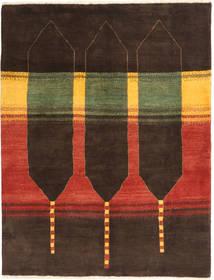 Gabbeh Persia Tappeto 150X197 Moderno Fatto A Mano Marrone Scuro/Ruggine/Rosso (Lana, Persia/Iran)