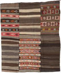 Kilim Patchwork Tappeto 210X248 Moderno Tessuto A Mano Marrone Scuro/Grigio Scuro (Lana, Turchia)