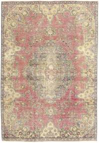 Colored Vintage Tappeto 184X264 Moderno Fatto A Mano Beige/Grigio Chiaro (Lana, Persia/Iran)