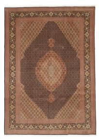 Tabriz 50 Raj Con Seta Tappeto 252X353 Orientale Fatto A Mano Marrone/Marrone Scuro Grandi (Lana/Seta, Persia/Iran)