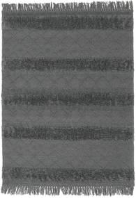 Kilim Berber Ibiza - Grigio Chiaro Tappeto 140X200 Moderno Tessuto A Mano Nero/Blu (Lana, India)
