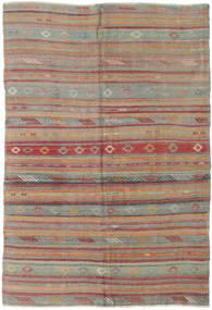 Kilim Turchi Tappeto 160X233 Orientale Tessuto A Mano Grigio Scuro/Rosso Scuro (Lana, Turchia)