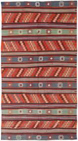 Kilim Turchi Tappeto 170X314 Orientale Tessuto A Mano Rosso Scuro/Nero (Lana, Turchia)