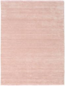 Handloom Fringes - Rosa Chiaro Tappeto 160X230 Moderno Rosa Chiaro/Beige (Lana, India)