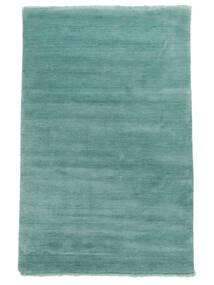 Handloom Fringes - Aqua Tappeto 140X200 Moderno Blu Turchese (Lana, India)