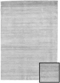 Bambù Grass - Grigio Tappeto 140X200 Moderno Grigio Chiaro/Bianco/Creme (Lana/Seta Di Bambù, Turchia)