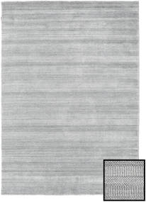 Bambù Grass - Grigio Tappeto 160X230 Moderno Grigio Chiaro (Lana/Seta Di Bambù, Turchia)