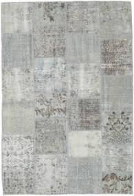 Patchwork Tappeto 157X230 Moderno Fatto A Mano Grigio Chiaro/Blu Turchese (Lana, Turchia)