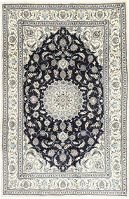 Nain Tappeto 201X314 Orientale Fatto A Mano Grigio Chiaro/Grigio Scuro (Lana, Persia/Iran)
