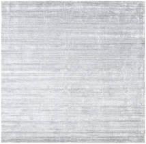 Bambù Di Seta Loom - Grigio Tappeto 250X250 Moderno Quadrato Bianco/Creme/Grigio Chiaro Grandi ( India)